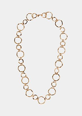 Extravagant necklace made of rings from comma