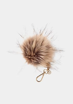 Fake fur pompom pendant from s.Oliver