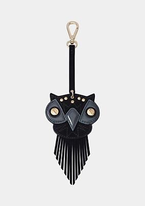 Faux leather owl-shaped pendant from comma