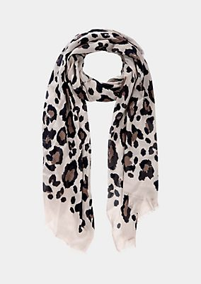 Scarf with all-over print from comma