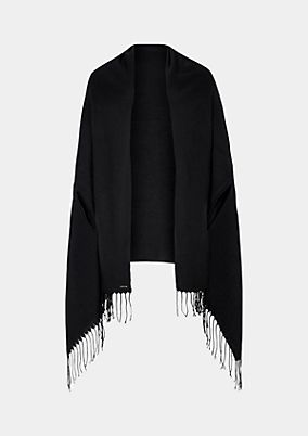 Soft stole embellished with fringing from comma