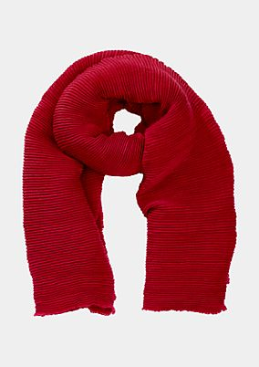 Wide knit scarf with pleated pattern from comma