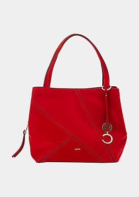 Faux suede shopping bag from comma