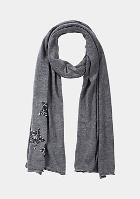 Cosy scarf with sequins from comma