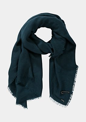 Soft knit scarf with interwoven glitter yarn from comma