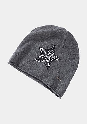 Soft knit hat with sequin embellishment from comma