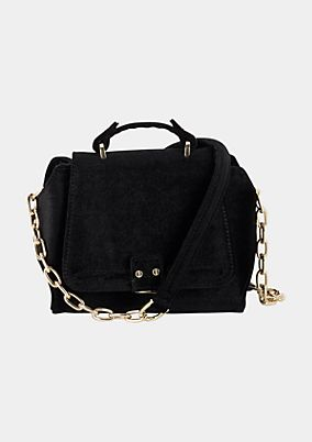 Shoulder bag with a soft velvet finish from comma
