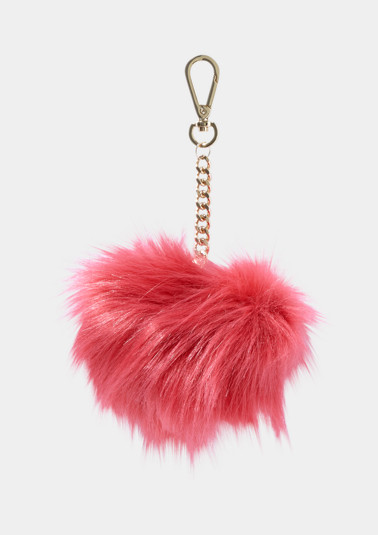 Keyring in fluffy faux fur from comma