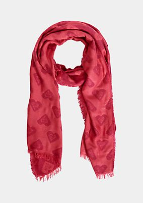 Soft knit scarf with an all-over pattern from comma