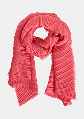 Scarf with a decorative pleats from comma