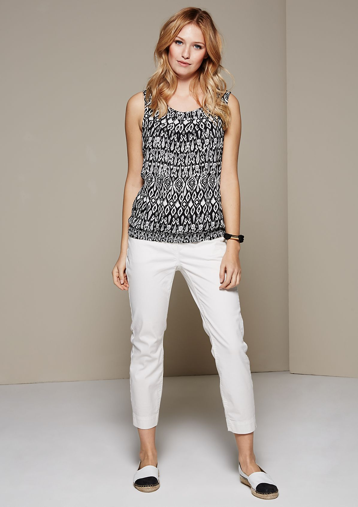 Crêpe summer top with a beautiful all-over print from s.Oliver
