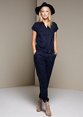 Sporty jumpsuit with a fabric belt from s.Oliver