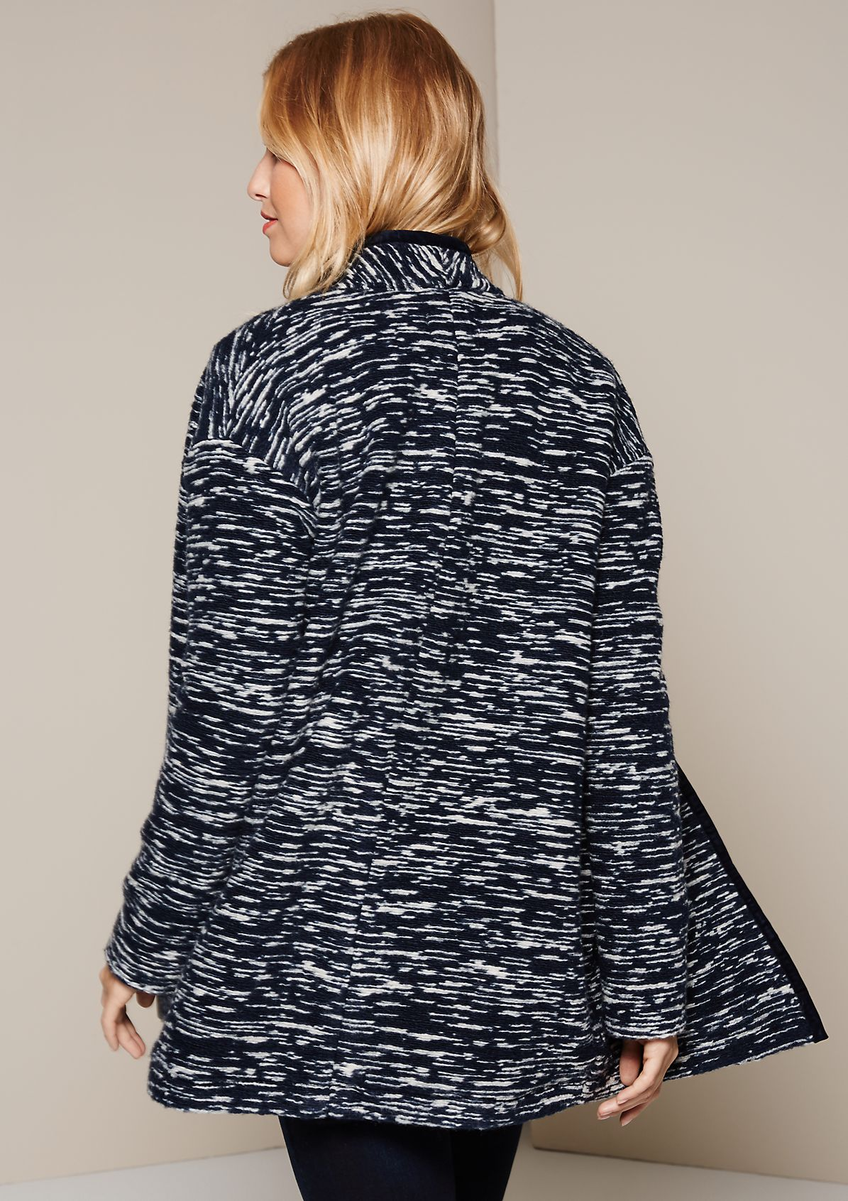 Beautiful autumn bouclé coat with a sophisticated pattern from s.Oliver