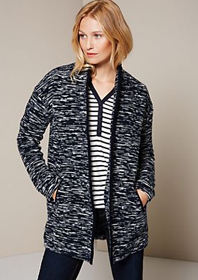Beautiful autumn bouclé coat with a sophisticated pattern from comma