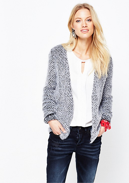 Soft cardigan made from shaggy yarn from s.Oliver