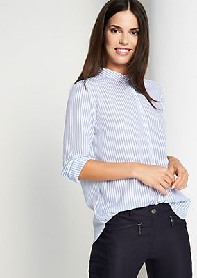 Shirt blouse with vertical stripes from comma