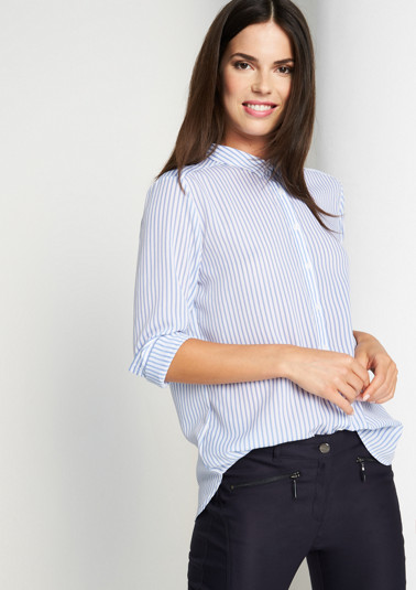 Elegant chiffon blouse with a vertical stripe pattern from comma
