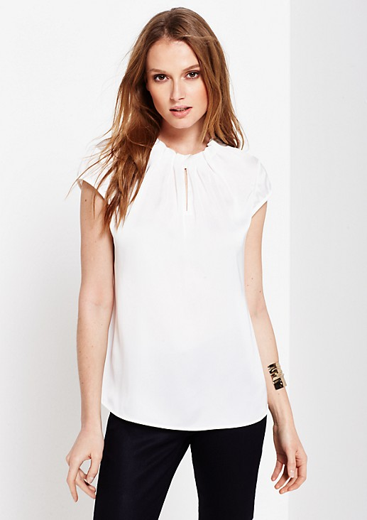 Elegant satin top with fine details from s.Oliver