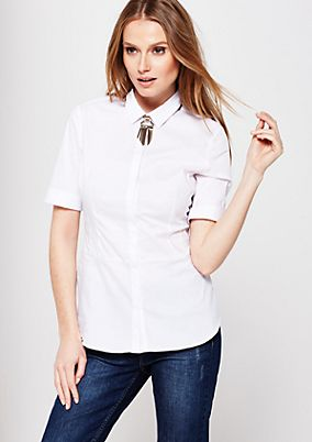 Elegant business blouse with short sleeves from s.Oliver