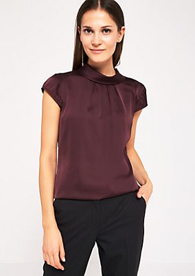 Elegant satin blouse with fine details from s.Oliver
