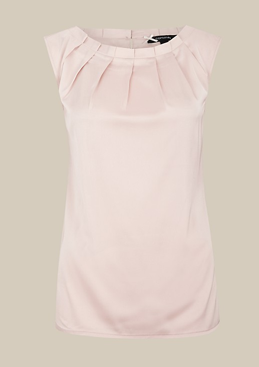 Top with a subtle sheen and elegant puckers from s.Oliver