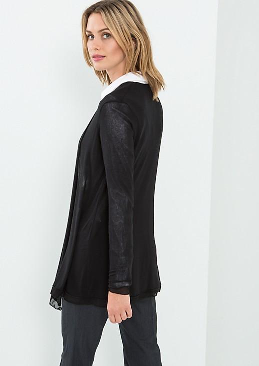 Semitransparente Jacke mit schönen Details