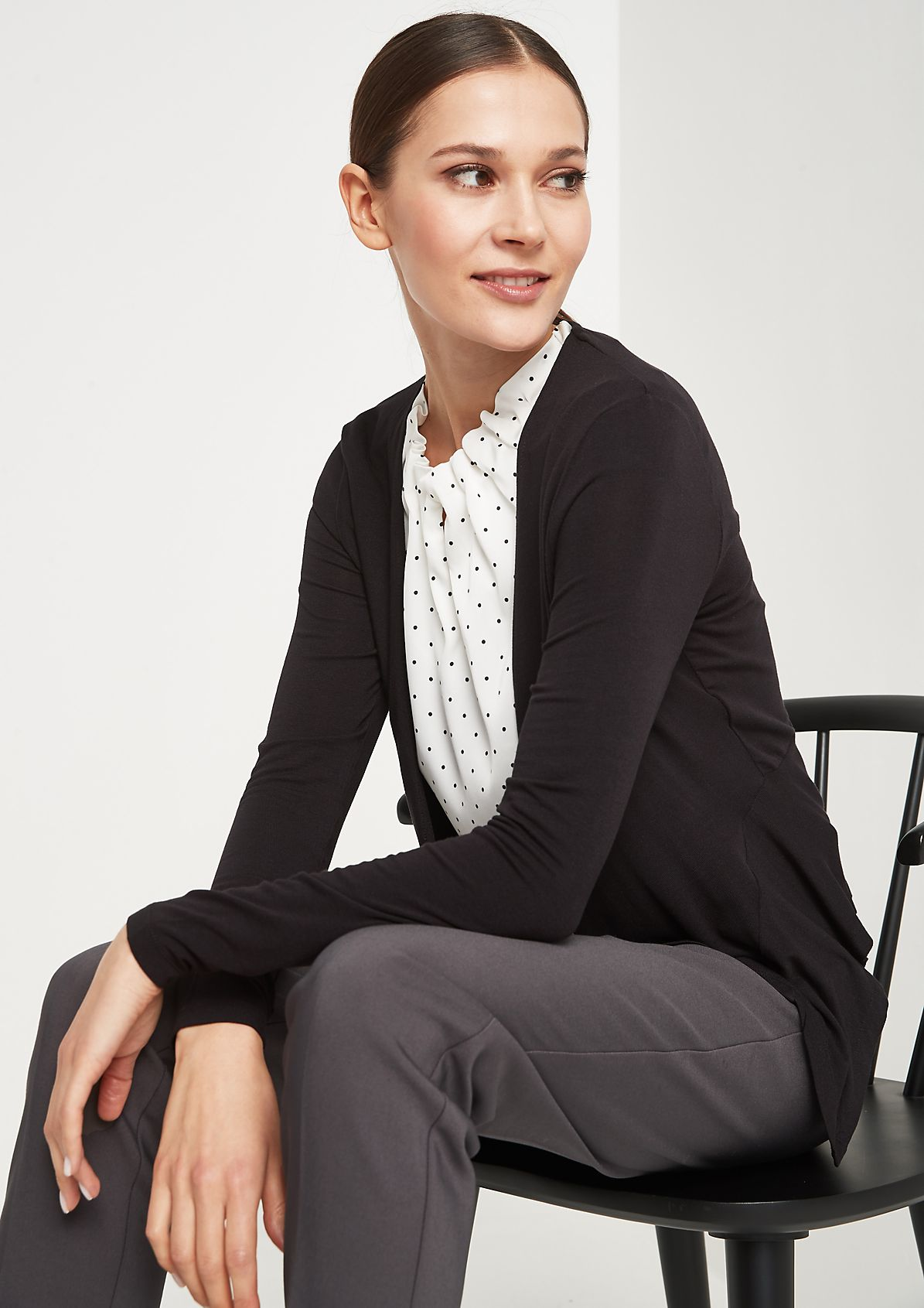 Lightweight bolero with fabulous details from comma