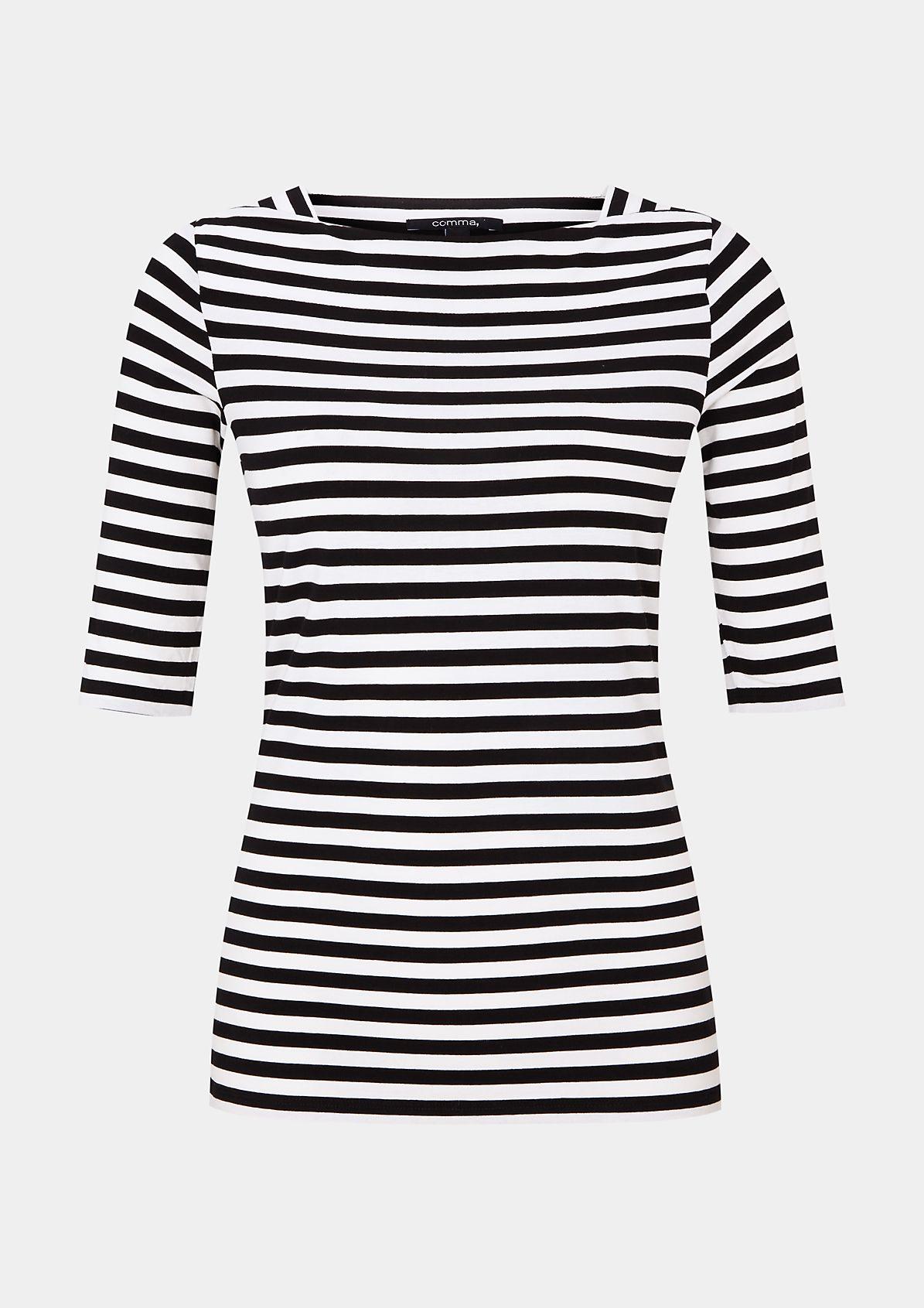 Lässiges Jerseyshirt mit klassischem Streifenmuster