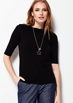 Lightweight jersey top with short sleeves from s.Oliver