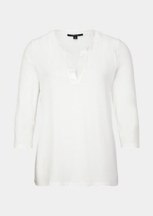 Shirt im raffinierten Materialmix