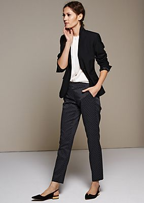 Classic blazer with sophisticated details from comma