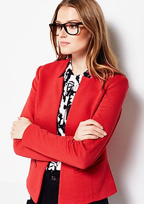 Elegant business blazer with a sophisticated honeycomb pattern from comma
