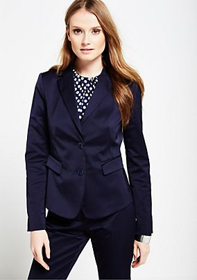 Elegant satin business blazer with a matte sheen from s.Oliver