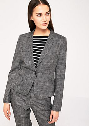 Business blazer in a mottled black & white look from s.Oliver