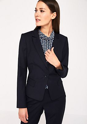 Elegant blazer with a pinstripe pattern from comma
