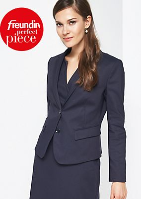 Elegant business blazer with a micro pattern from comma
