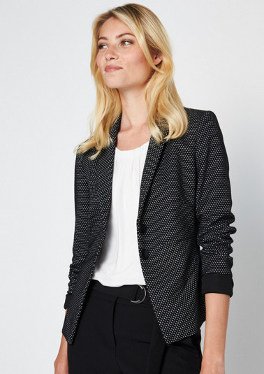 Blazer with a beautifully designed minimalist pattern from comma