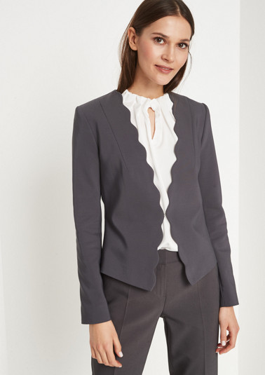 Elegant short blazer with a hook fastener from comma