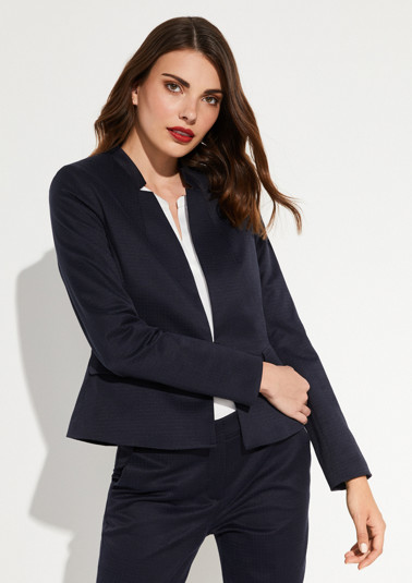 Short blazer with a minimalist pattern from comma