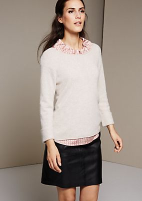 Soft knit jumper with decorative details from s.Oliver