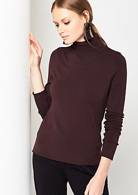 Soft knit jumper with rib knit from comma
