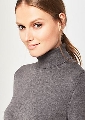 Soft knit jumper with a polo neck from comma