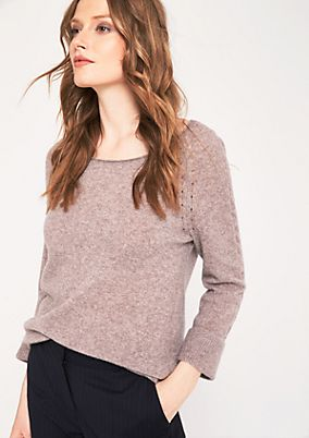 Soft knit jumper with 3/4-length sleeves from s.Oliver