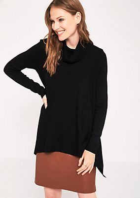 Casual knit jumper with a high polo neck from comma