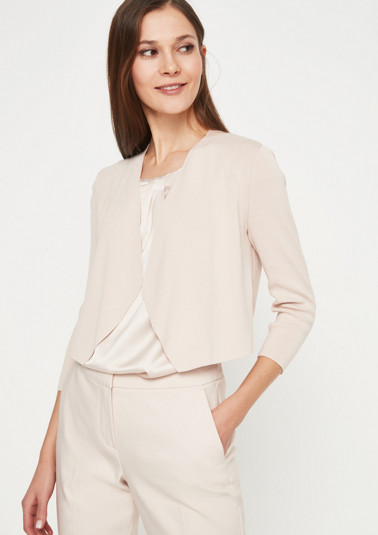 Knit bolero with 3/4-length sleeves from comma