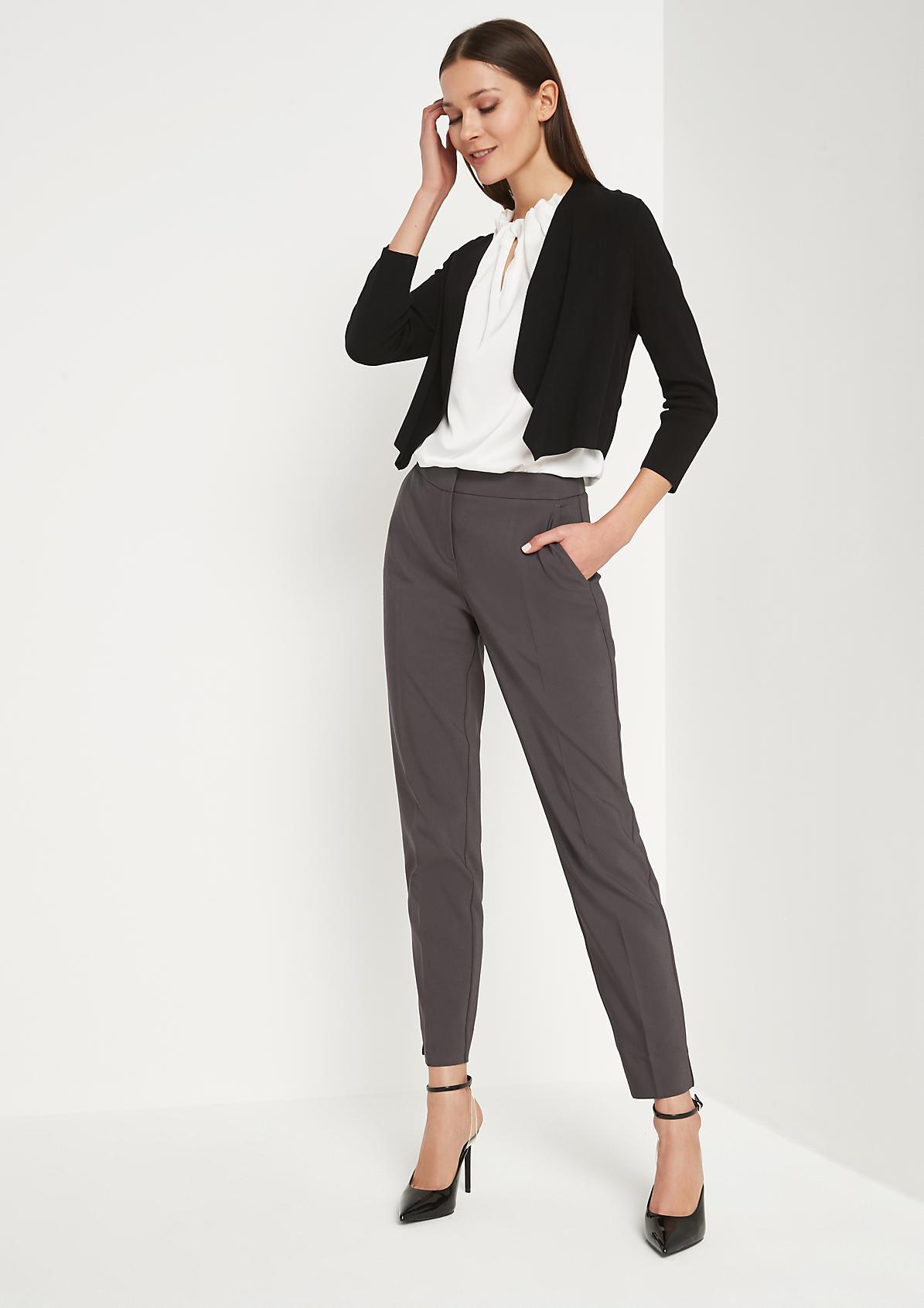 Knit bolero with 3/4-length sleeves from comma