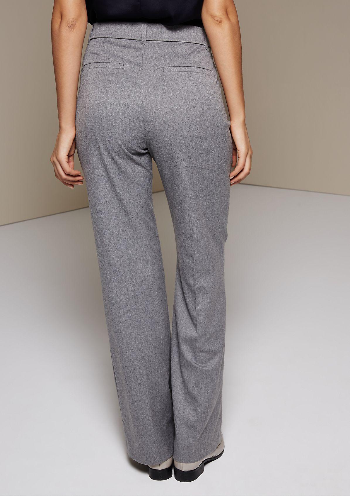 Edle Businesspants mit breitem Stoffgürtel