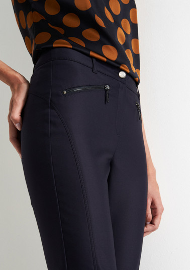 Elegant cloth trousers with zip pockets from comma