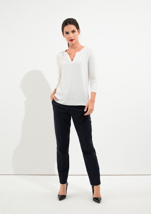 Business trousers with a decorative minimalist pattern from comma