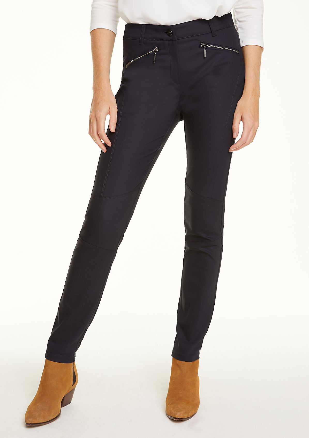 Casual trousers with zip pockets from comma